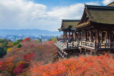 dera: Kiyomizu Dera temple in Kyoto , Japan