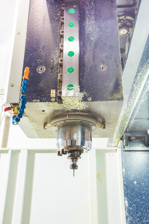 CNC milling machine milling heads in metal industry. photo