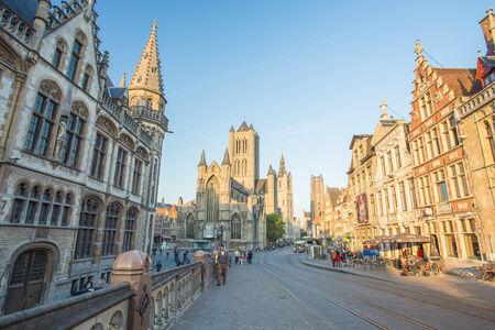 Center Market of Ghent, Belgium. Editorial