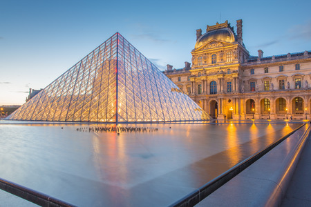 Louvre Museum in Paris, France.