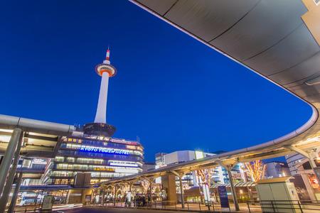 KYOTO, JAPAN - DECEMBER 3: Kyoto Station on December 3, 2012 in Kyoto. It is Japan
