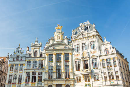guildhalls: Guildhalls  at Grand Place in Brussels, Belgium. Stock Photo