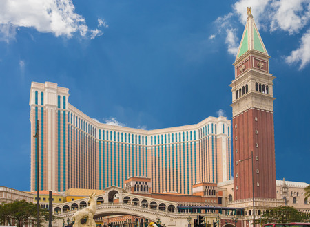 MACAU, CHINA - JAN 27: The Venetian Macau Resort Hotel on January 27, 2013.Gambling tourism is Macau Editorial