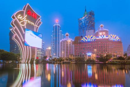 MACAU, CHINA - JANUARY 28: Buildings of Macau Casino on January 28, 2013, Gambling tourism is Macau 版權商用圖片 - 33686018