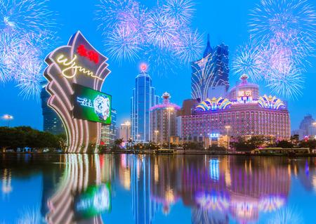MACAO, CHINE - 28 janvier: Bâtiments de Macau Casino le 28 Janvier 2013, le tourisme est le jeu de Macao Banque d'images - 33915658