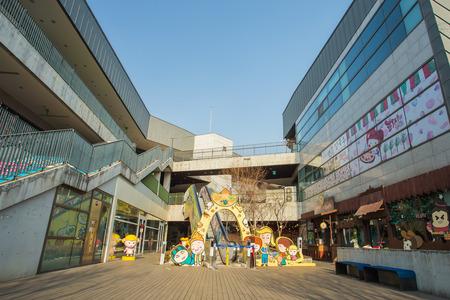 Paju, Corée du Sud - Décembre 31: Le Heyri Art Valley le 31 Décembre, 2013.Heyri Art vallée il ya des résidences, des ateliers, des galeries d'art et musées. Artistes gagnent leur vie en ouvrant expositions, de négociation ou de la vente de leur art.