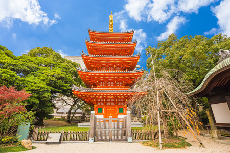 Tocho-ji temple or Fukuoka Giant Buddha temple in Fukuoka, Japan.
