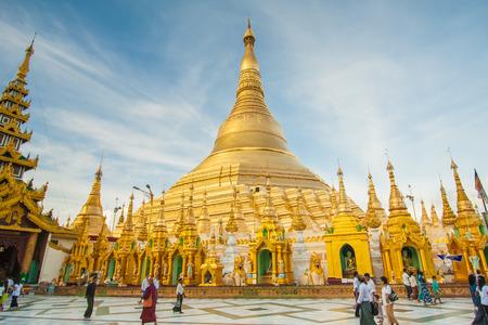 La pagode Shwedagon à Yangon, au Myanmar
