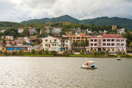 lao: The city center of Sapa Village, Lao Cai Provice, Vietnam. Stock Photo