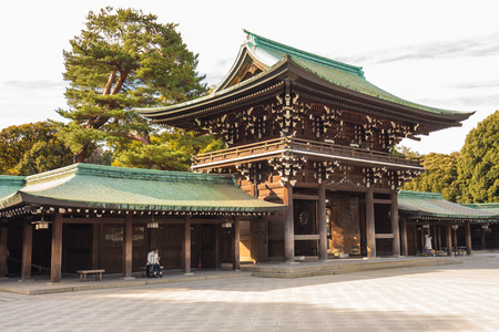 shrine: Meiji-jingu in Tokyo, Japan.