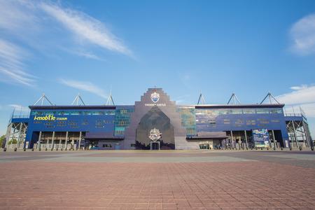 buriram: Buriram,Thailand - June 8, 2014: i-mobile Stadium on June 8, 2014.This Stadium is a 32,600 seat football stadium in Buriram, Thailand.The stadium is the home of Thailand