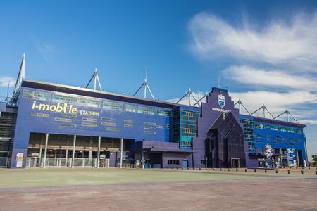 Buriram, Thaïlande - 8 Juin, 2014: Stade i-mobile le 8 Juin, 2014.This Stadium est un stade de football de 32 600 places à Buriram, Thailand.The stade est la maison de la Thaïlande