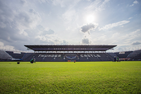 buriram: Buriram,Thailand - June 7, 2014: i-mobile Stadium on June 7, 2014.The i-mobile Stadium is the largest football stadium in Thailand.