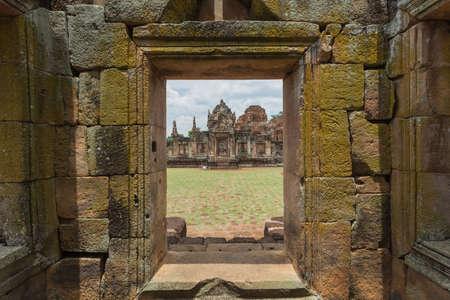 angor: Prasat Hin Muang Tum in Phanom Rung Historical Park, sand stone castle in Buriram, Thailand.