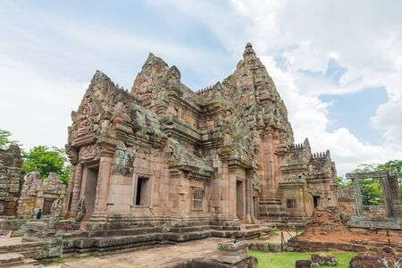 rung: Phanom Rung Historical Park, sand stone castle in Buriram, Thailand. Stock Photo