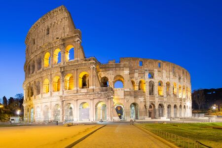 Colosseum the landmark of Rome, Italy photo