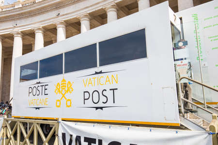 telegraphy: Rome, Italy - April 8, 2015: Poste Vaticane is an organization responsible for postal service in Vatican City. The organization is part of the Post and Telegraphy Service. Editorial