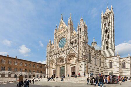 siena: The Duomo of Siena in Tuscany, Italy.