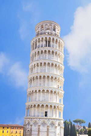 イタリア、ピサの斜塔。 写真素材