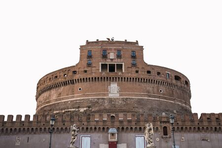 castel: View of Castel Sant Angelo the landmark of Rome, Italy