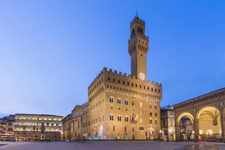 Piazza Della Signoria in Florence Italy. 版權商用圖片 - 39532851