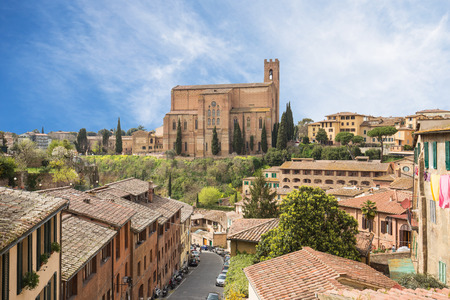 the tuscany: Cityscape of Siena in Tuscany Italy.