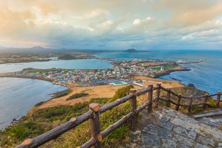 Songsan Ilchulbong in Jeju island, South Korea.