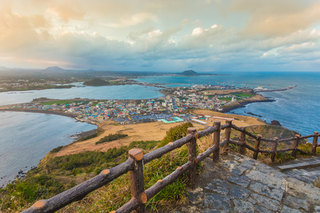 south island: Songsan Ilchulbong in Jeju island, South Korea.
