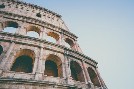 filtered: El Coliseo con la vendimia filtrada en Roma, Italia. Foto de archivo