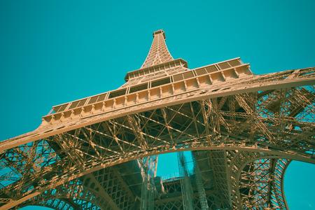The Eiffel Tower in Paris. 版權商用圖片