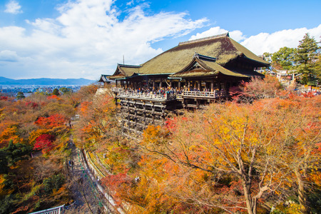 dera: Kyoto Japan  December 4 2012: Kiyomizudera officially Otowasan Kiyomizudera is an independent Buddhist temple in eastern Kyoto. The temple is part of the Historic Monuments of Ancient Kyoto Kyoto Uji and Otsu Cities UNESCO World Heritage site.