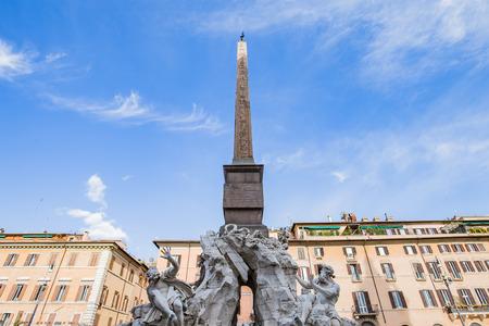 piazza: Piazza Navona landmark of Rome Italy. Editorial