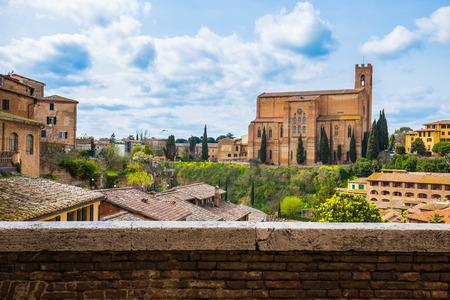 siena: View of Siena city in Tuscany, Italy. Stock Photo