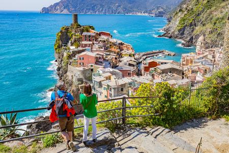 spezia: La Spezia, Italy - April 9, 2015: Vernazza is a town and comune located in the province of La Spezia, Liguria, northwestern Italy.