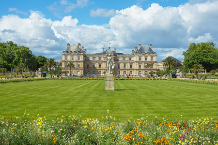The Jardin du Luxembourg, or the Luxembourg Garden, located in the 6th arrondissement of Paris, France.