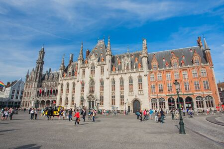 flemish: Bruges, Belgium - May 17, 2014: Bruges is the capital and largest city of the province of West Flanders in the Flemish Region of Belgium, in the northwest of the country.