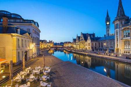 The Canal in Ghent city in Belgium.