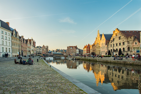 flemish region: Ghent, Belgium - May 17, 2014: Ghent is a city and a municipality located in the Flemish Region of Belgium. It is the capital and largest city of the East Flanders province.