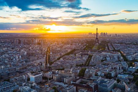 eiffel: The Paris skyline with Eiffel Tower in background
