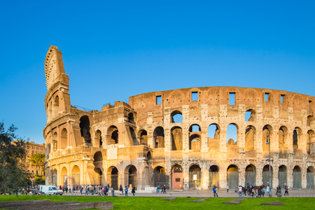 The Colosseum in Rome, Italy. 版權商用圖片