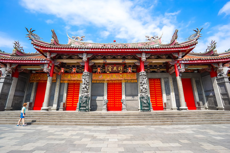 Xingtian tempel in Taipei, Taiwan. Stockfoto