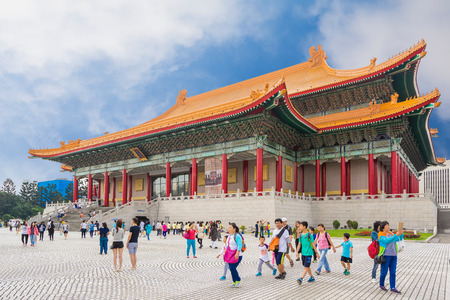 venues: Taipei, Taiwan - October 25, 2015: The National Theater and National Concert Hall are twin performing arts venues at Liberty Square in Zhongzheng District, Taipei, Taiwan. Editorial