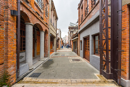Bopiliao Old Street in Taipei, Taiwan. 版權商用圖片 - 48050366