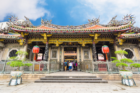 Longshan Temple in Taipei, Taiwan. Editorial