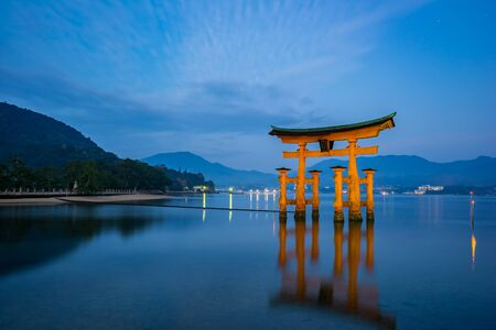 torii: The Floating Torii gate in Miyajima, Japan.