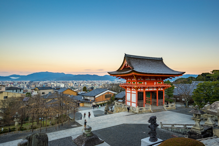 dera: Kyoto Skyline view from Kiyomizu dera in Japan. Editorial