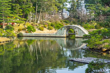 hiroshima: Shukkeien Japanese style garden in Hiroshima, Japan.