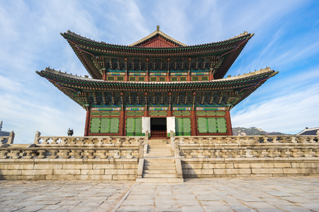 Gyeongbokgung palace in Seoul, South Korea. 報道画像