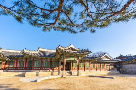 Changdeokgung Palace in Seoul, South Korea 新聞圖片