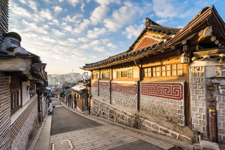 village: Bukchon Hanok Village in Seoul, South Korea.